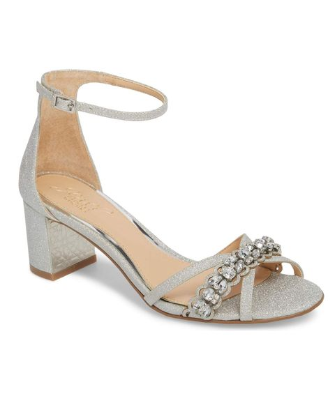 Jewel Badgley Mischka Giona Sandal Comfortable Wedding Shoe