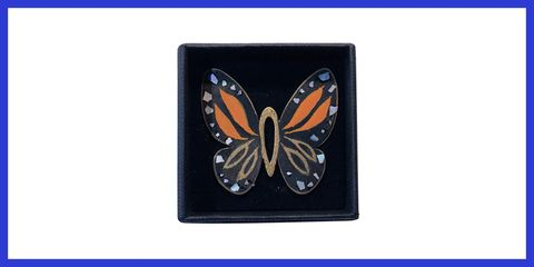 Butterfly, Monarch butterfly, Moths and butterflies, Insect, Brush-footed butterfly, Wallet, Pollinator, Rectangle, Invertebrate, Fashion accessory,