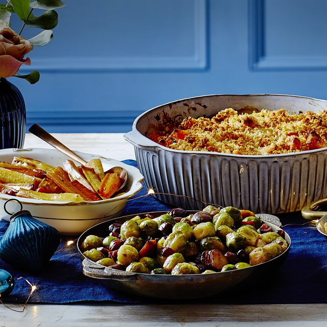 jewelled sprouts and chestnuts