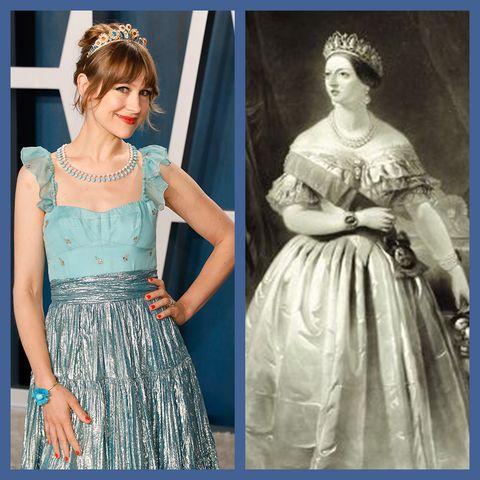 Clothing, Dress, Blue, Fashion, Day dress, Pattern, Shoulder, Gown, Victorian fashion, Pattern,