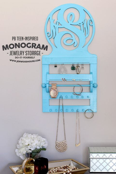 jewelry storage ideas - monogram storage