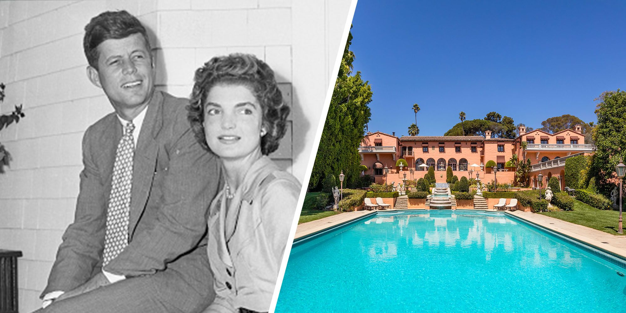 The Beverly House Estate Where JFK and Jackie Kennedy Honeymooned is Listed for $135 Million