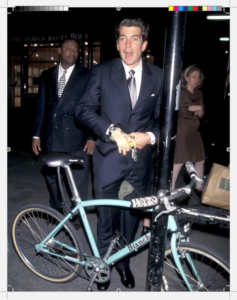 Kennedy's preferred mode of transportation around Manhattan was his bike.