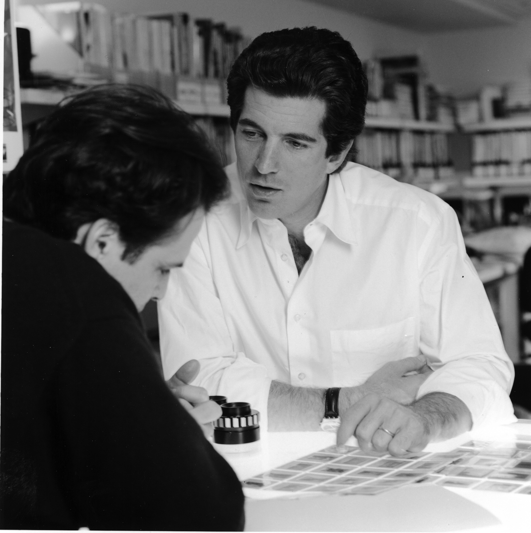Kennedy (pictured with Matt Berman) clocked long hours at George , sometimes staying past midnight to work on issues.