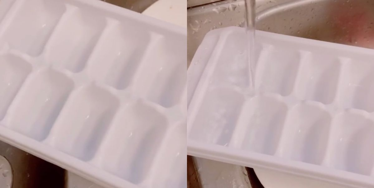 People On TikTok Are Learning That the Flat Spots On Ice Cube Trays Actually Serve a Purpose