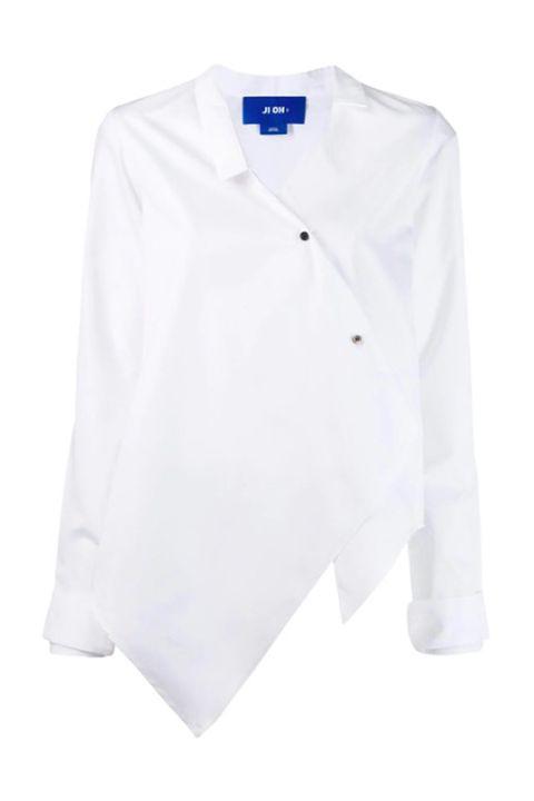 Clothing, White, Sleeve, Shirt, Collar, Blue, Outerwear, T-shirt, Button, Blouse,