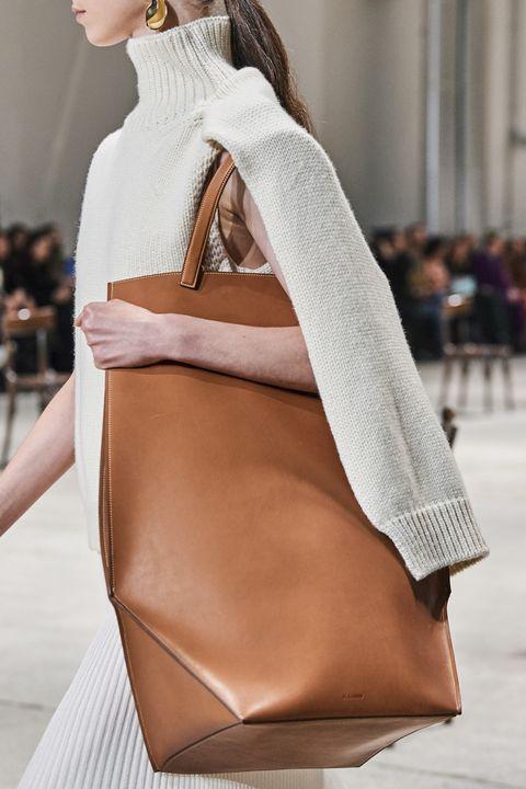 shopping bag cuoio jil sander autunno inverno 20202021