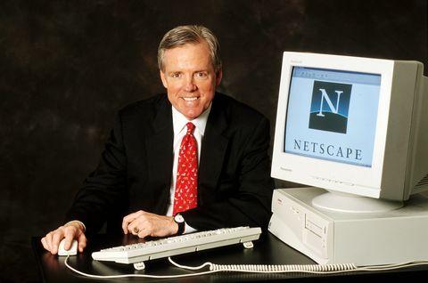 Jim Barksdale, Pdt.  Netscape el 24 de abril de 1998 en Francia.