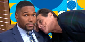 Jim Carrey and Michael Strahan on Good Morning America