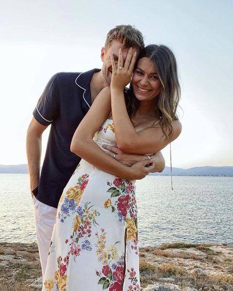 Jim Chapman and Sarah Tarleton announce engagement with beach photos