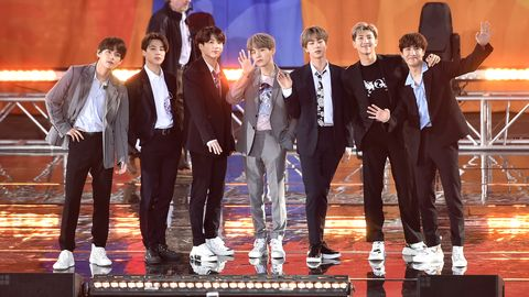BTS Wore Grey and Black Suits For GMA Central Park