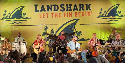 Jimmy Buffet Performance And Press Conference At Dolphin Stadium