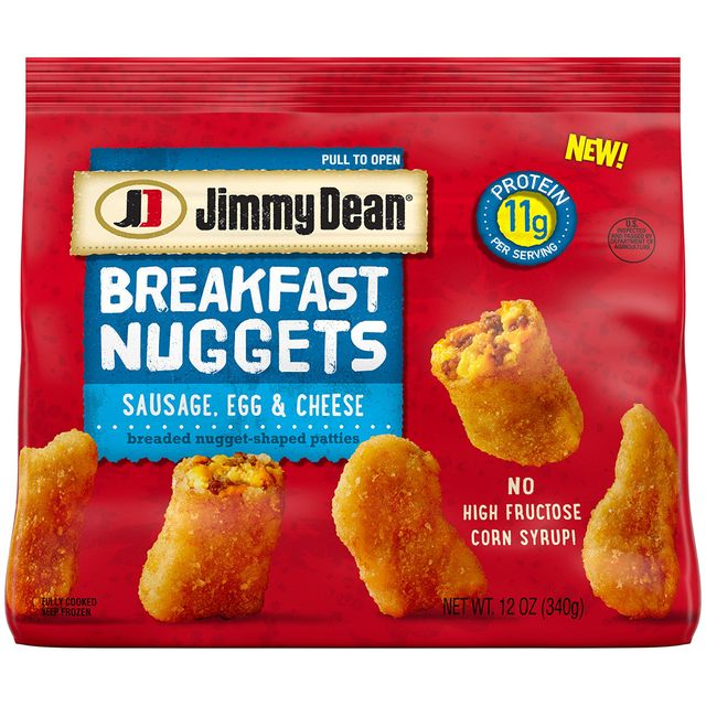 jimmy dean breakfast nuggets sausage, egg, and cheese