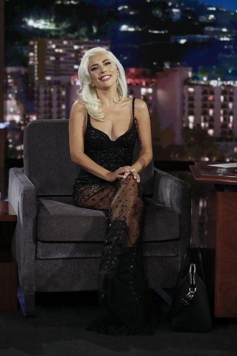 a7a8767e1e Lady Gaga Wears a Sequined Naked Dress by Khyeli on  Jimmy Kimmel Live!