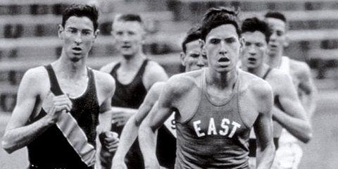 Jim Ryun breaking 4-minute mile