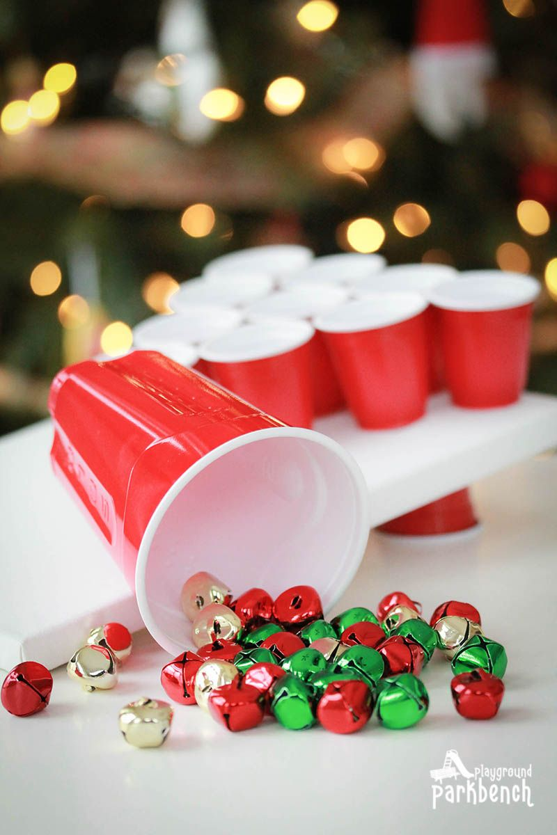 bell toss christmas party game