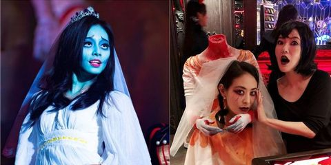 Fun, Event, Zombie, Costume, Fictional character, Black hair, Performance, Style,