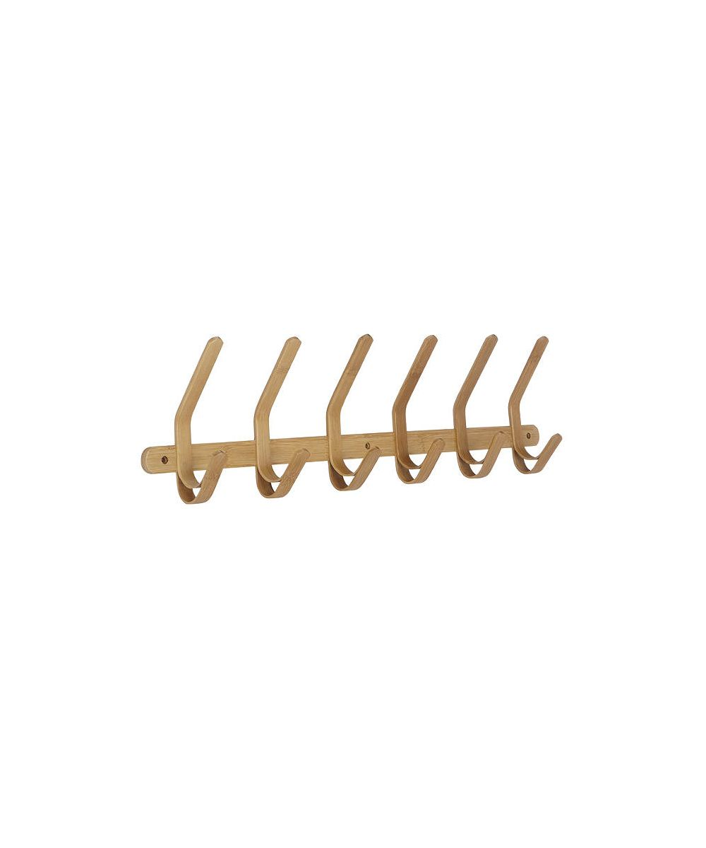 John Lewis & Partners Bamboo 6 Hook Rack