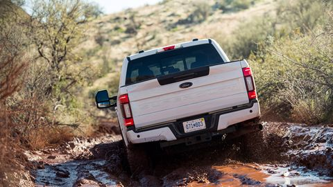 2020 Ford Super Duty Tremor goes off road