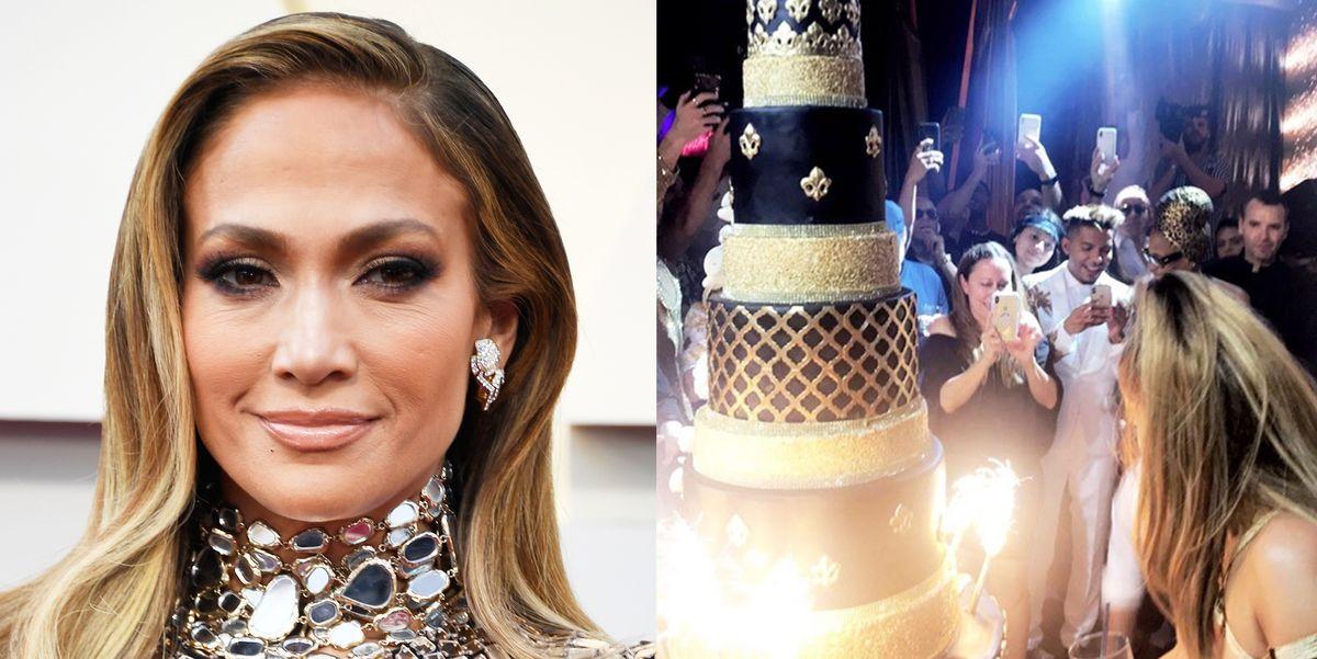 Jennifer Lopez S 50th Birthday Cake Was 10 Tiers