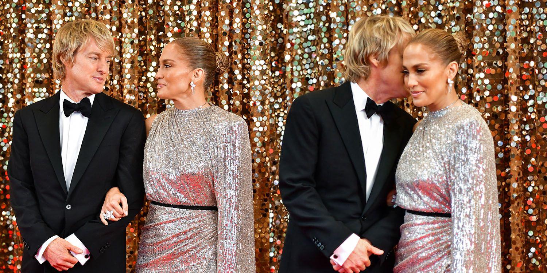 Jennifer Lopez S Leg Slit Moment In Custom Michael Costello Gown