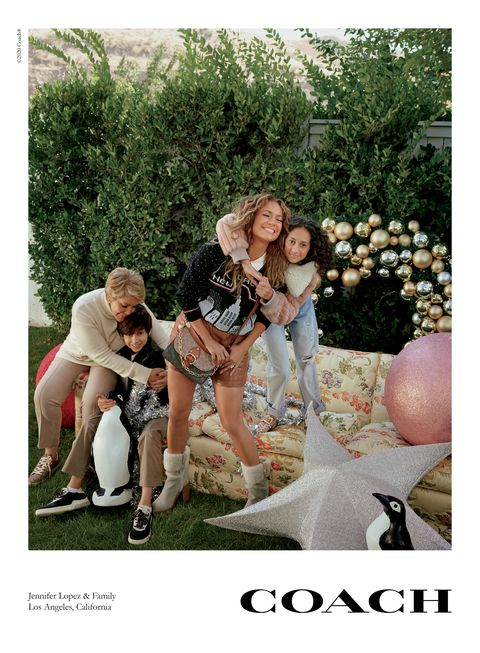 jennifer lopez and her family coach holiday campaign
