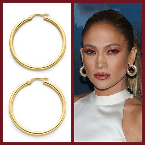afcba9fdf3595 The Best Gold Hoop Earrings For Any Occassion - J.Lo Inspired Hoops