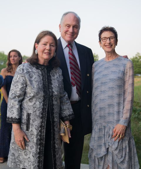 Jo Carole Lauder, Ronald Lauder, and Terrie Sultan at Parrish Art Museum's Midsummer Party, July 2017.