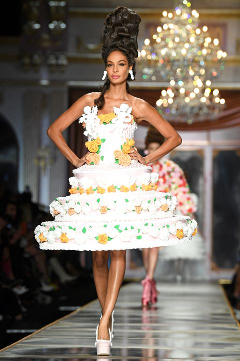 joan smalls walks the fall 2020 moschino show