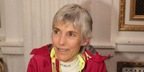 Joan Samuelson at the 2014 Boston Marathon Press Conference