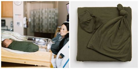 joanna gaines baby crew gaines green swaddle