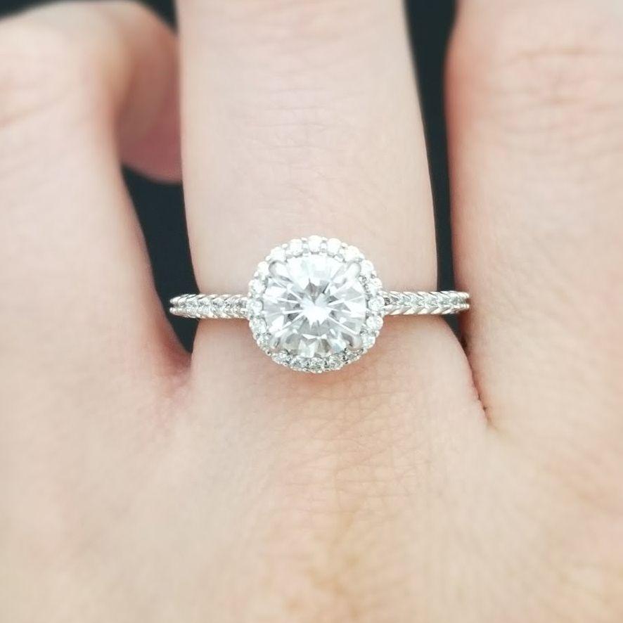 joanna gaines engagement ring - round halo diamond engagement ring