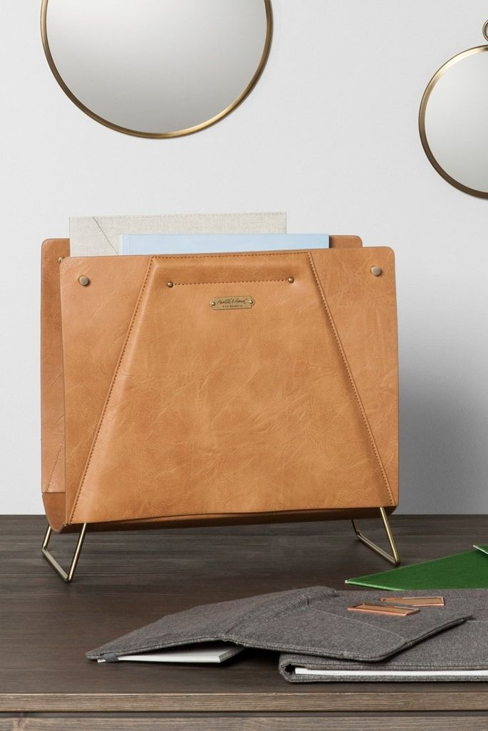 joanna gaines summer collection target - faux leather file sorter