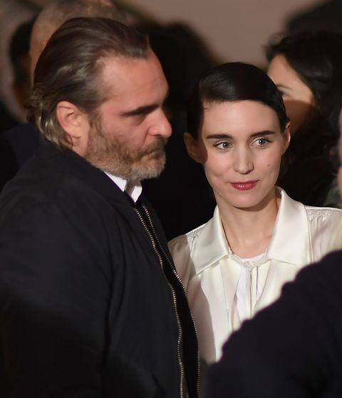 """Joaquin Phoenix and Rooney Mara atthe New York special screening of Amazon Studios' """"You Were Never Really Here"""" at Metrograph on April 3, 2018 in New York City."""