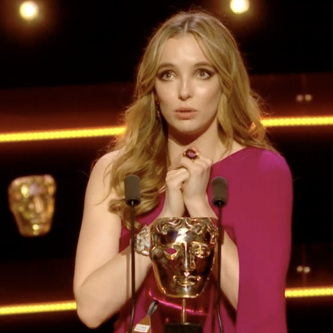 Killing Eve's Jodie Comer pays emotional tribute to Phoebe Waller-Bridge and Stephen Graham after BAFTA TV win