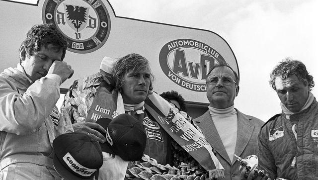 jody scheckter, james hunt, jochen mass, grand prix of germany