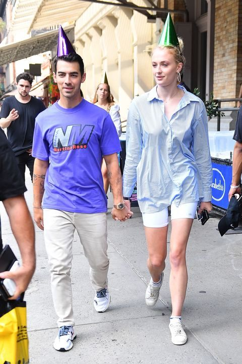 Sophie Turner and Joe Jonas Match in Party Hats for Joe's 30th