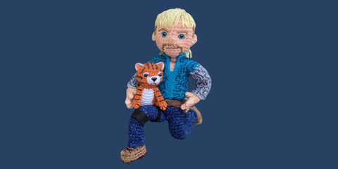 Toy, Blue, Figurine, Animation, Action figure, Doll, Fictional character, Animated cartoon, Child, Electric blue,