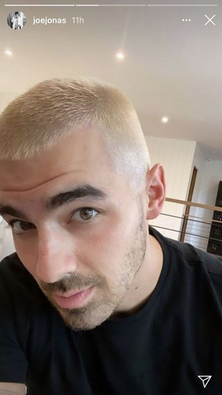 joe jonas blonde hair