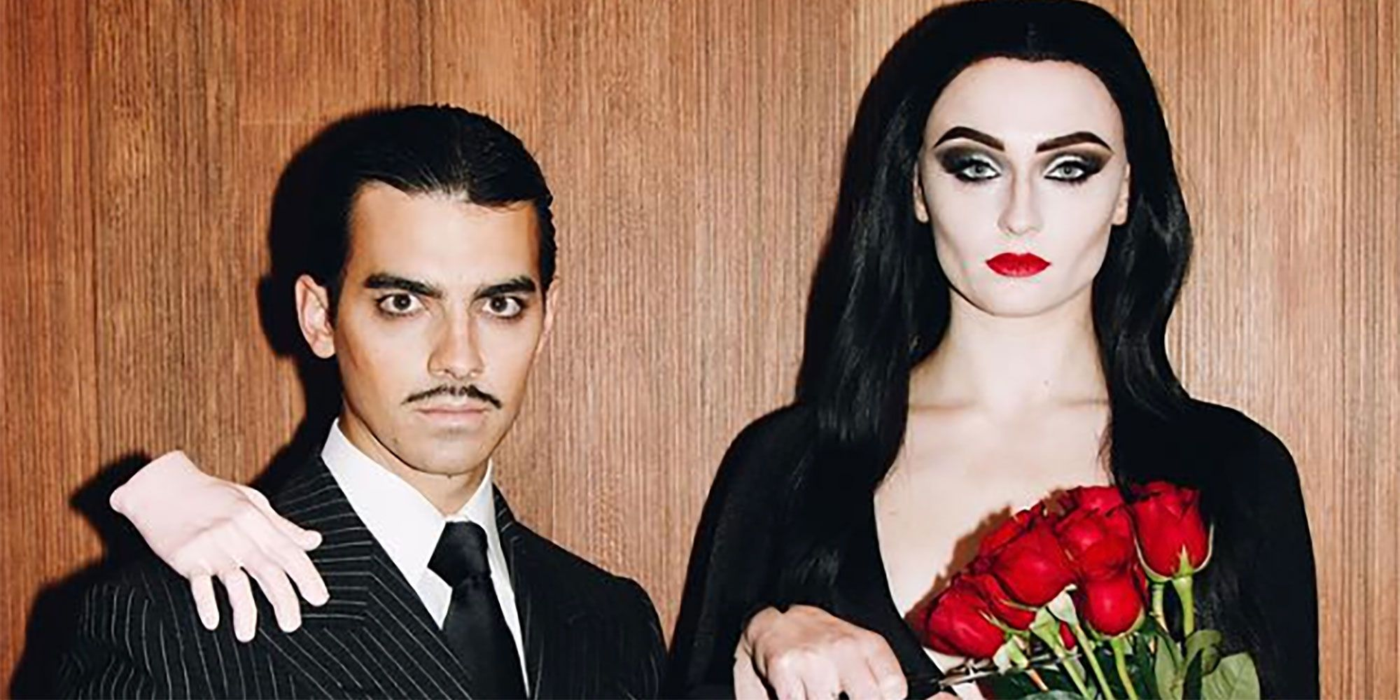 sophie turner and joe jonas wore morticia and gomez addams costumes