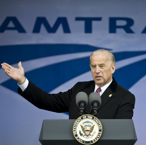 joe biden amtrak, united states   march 13  vice president joe biden speaks at an event to announce funding for amtrak as part of the american recovery and reinvestment act at union station in washington on friday march 13, 2009  photo by bill clarkroll callgetty images