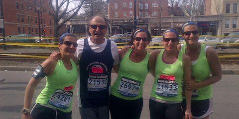 Joe D'Arrigo at Boston Marathon