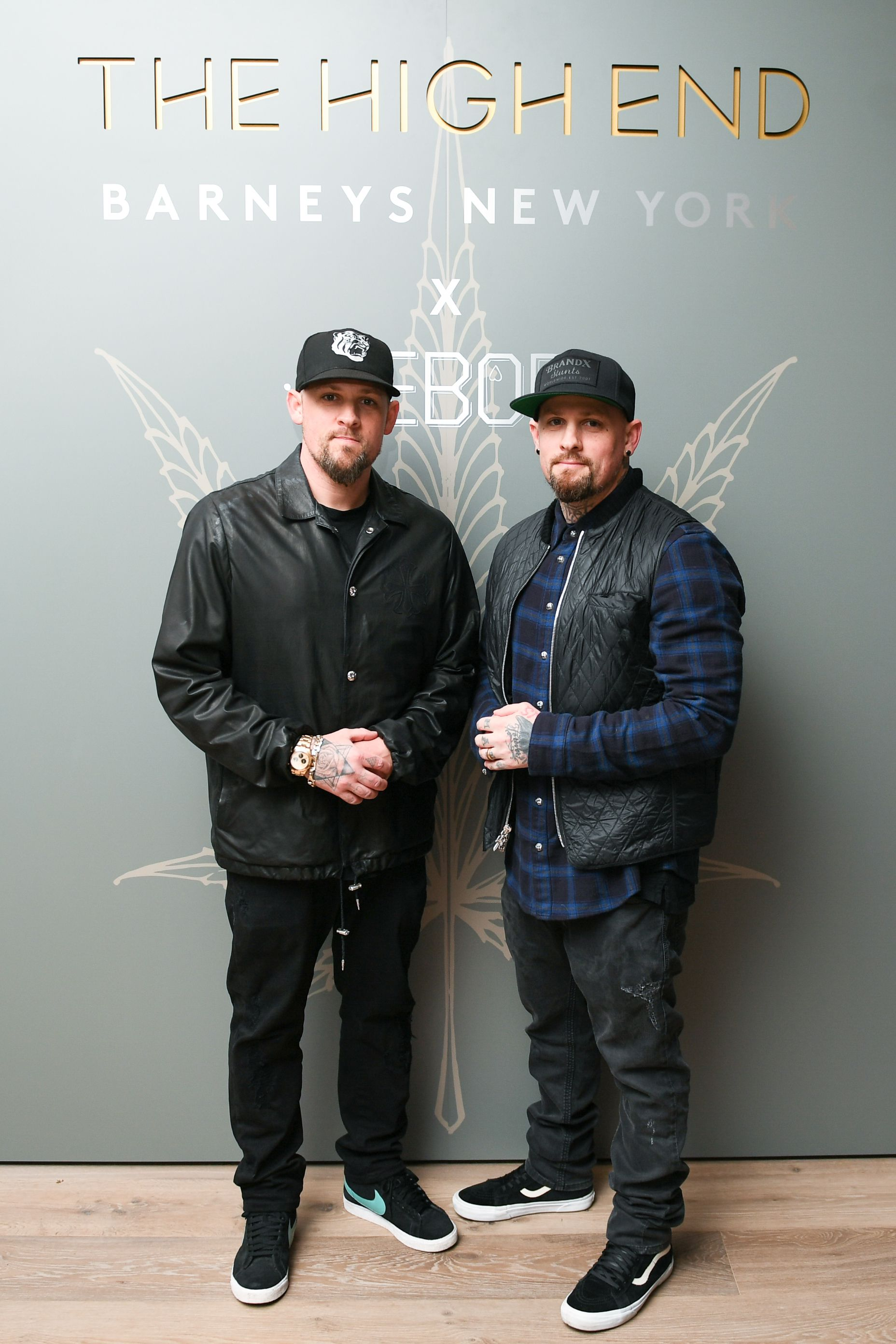 Benji and Joel Madden Benji and Joel Madden celebrate the launch of Barneys New York's The High End hosted by Beboe, along with Matthew Mazzucca, Scott Campbell and Clement Kwan, on March 20.