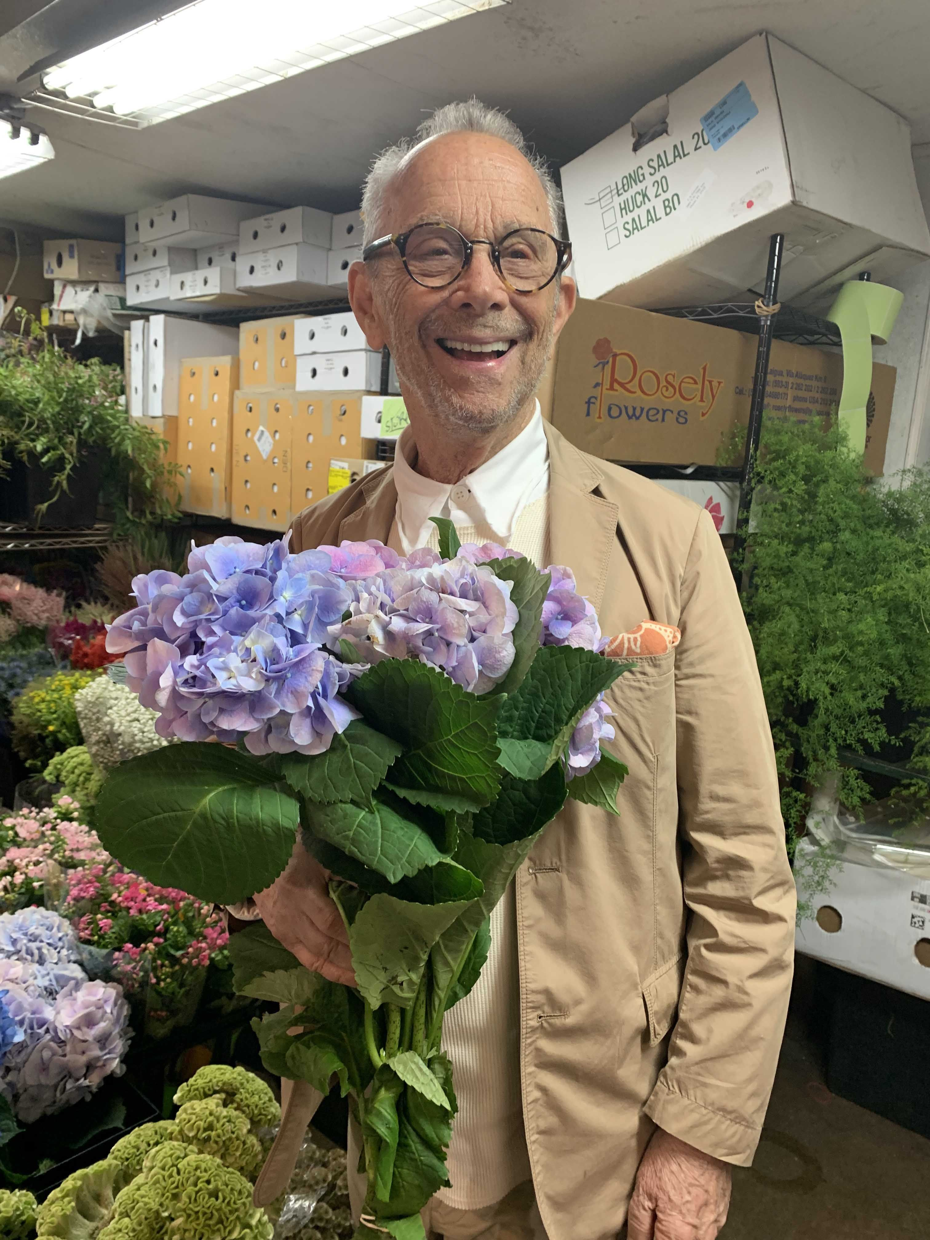 "Cabaret Star Joel Grey on His Double Life as the ""Flower Whisperer"""
