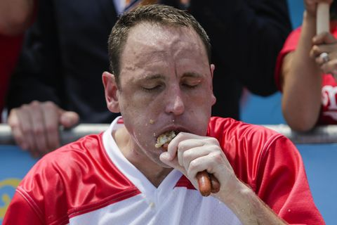 b64b24ce Joey Chestnut Hot Dog Eating Champion - Calories Burned From Running
