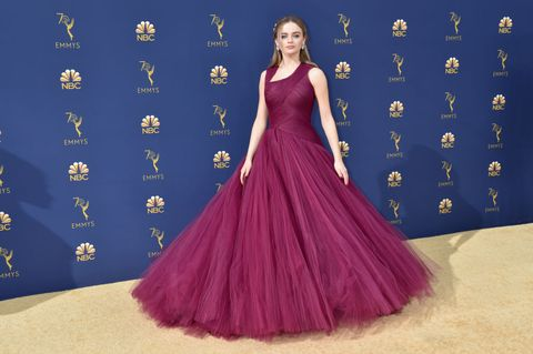 4af789071c Joey King Walked the 2018 Emmys Red Carpet Without Jacob Elordi ...