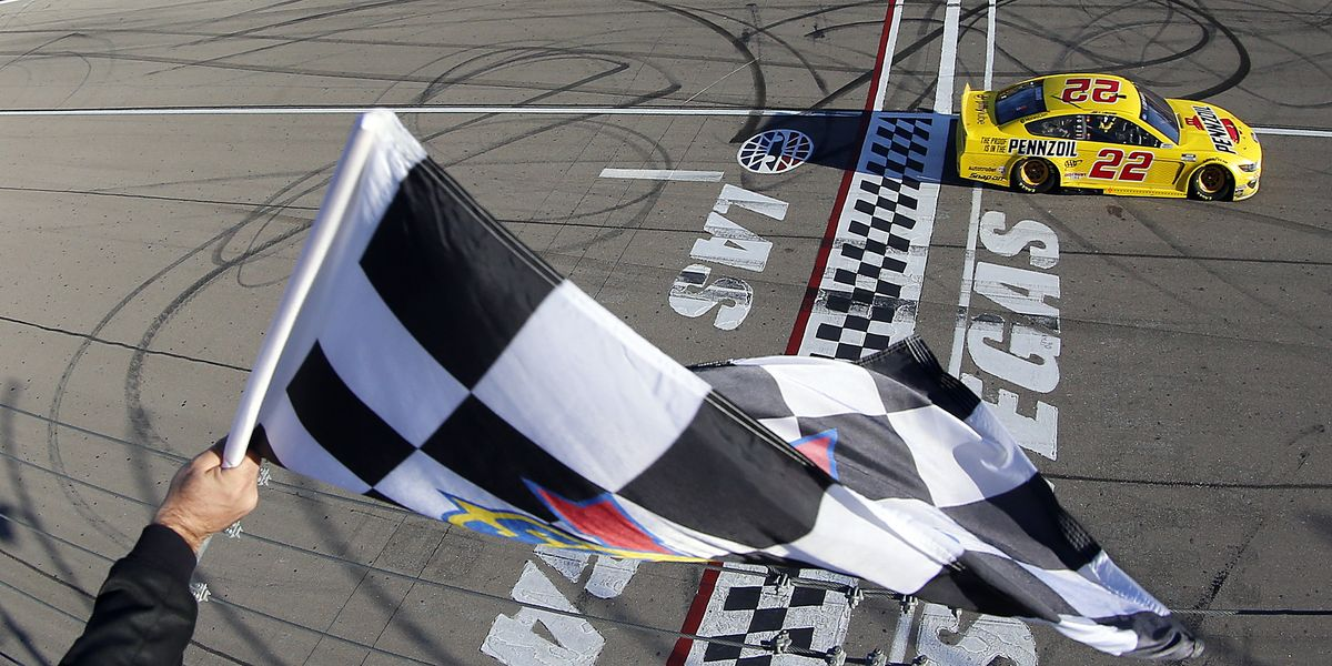 Joey Logano defends his win in NASCAR Cup race at Vegas
