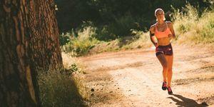 perder, peso, correr, antes, 3, tarde