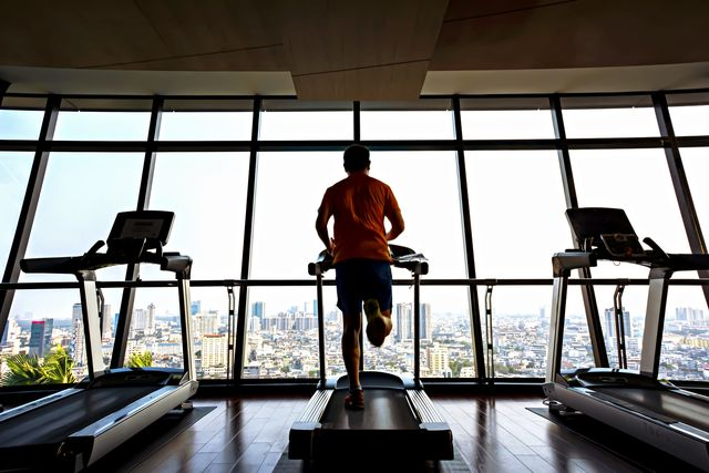 healthy lifestyle jogging in the gym