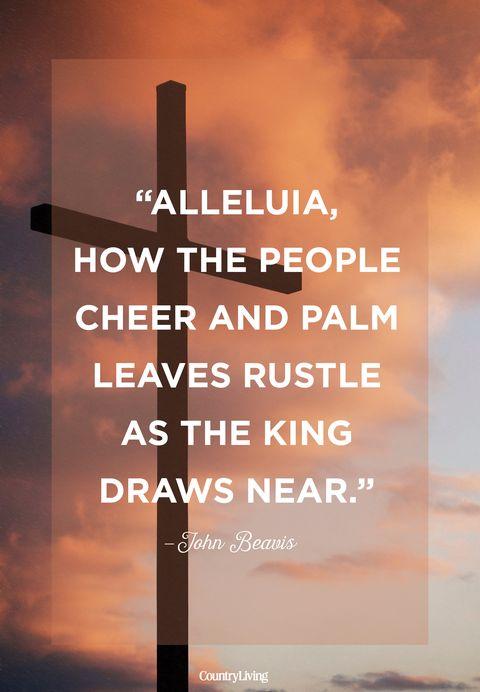 John Beavis Palm Sunday Quote